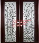 新款实木门专用高档黑条镶嵌玻璃