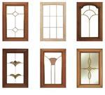 柜门铜条镶嵌艺术玻璃