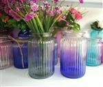 彩色玻璃花插花器