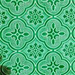 绿色海棠压花玻璃