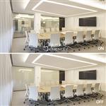 办公室通电调光玻璃