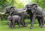 大象家族玻璃钢雕塑