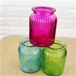 玻璃瓶工艺品瓶喷色玻璃花瓶