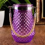 玻璃瓶喷色花瓶提绳玻璃瓶