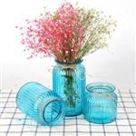 花瓶玻璃透明彩色欧式插花瓶居家装饰摆件干花瓶创意客厅干花花瓶