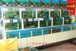 广州天河棠下设计玻璃海鲜鱼池