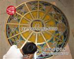 圆博彩绘玻璃穹顶彩色玻璃穹顶专业制造厂家