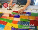 圆博工艺彩色玻璃彩绘玻璃专业设计厂家直销