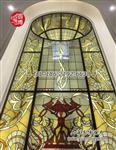 彩色玻璃穹頂彩繪鑲嵌玻璃穹頂生產廠家圓博工藝