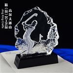北京高尔夫冰山奖牌 水晶高尔夫人物