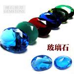彩色椭圆形玻璃宝石裸石