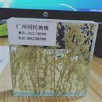 夹干花玻璃厂家 夹绢树枝干花玻璃
