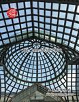 彩色钢弯玻璃穹顶彩绘玻璃穹顶玻璃采光顶室外穹顶专业厂家