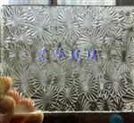 太阳花压花玻璃  折花玻璃