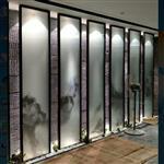 夹山水画玻璃  双面半透明山水画玻璃 同民加工