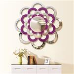 简约奢华家居装饰镜水莲花艺术创意玄关镜沙发背景墙壁挂镜
