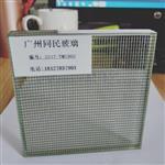 广州夹丝玻璃厂家供应 线条格子夹丝玻璃
