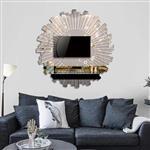 丽晶镜业现代装饰镜 别墅艺术镜 壁挂镜子 门厅玄关镜可定制