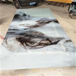 广州直销夹抽象画玻璃 山水画玻璃 特色玻璃