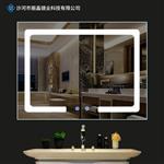 酒店浴室卫浴镜子 led智能防雾防水卫生间化妆灯镜 方形