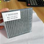 供应坑纹夹丝玻璃 特色条纹玻璃夹丝