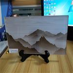 广州夹山水画玻璃 夹绢丝山水画玻璃 根据尺寸定制