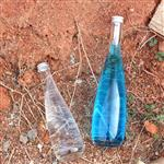 玻璃饮料瓶水滴瓶高白料青酒瓶铝盖玻璃瓶
