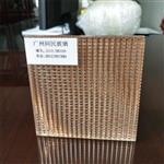 厂家供应双面条纹夹金属玻璃 夹丝玻璃 同民加工定制