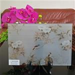 花鸟绢丝画玻璃 夹画玻璃 广州同民加工定制