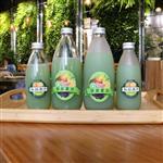 徐州玻璃瓶果汁瓶饮料瓶铝盖果农饮料瓶