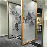 夹山画玻璃 抽象画玻璃 花鸟画玻璃 广州同民