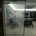 夹抽象画玻璃 夹山水画玻璃 广州同民供应
