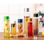 250ml-800ml果汁瓶酵素饮料玻璃VOSS水瓶奶茶冷泡