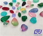 长江宝饰 玻璃水钻复合彩宝 饰品镶嵌工艺品