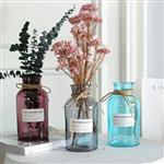厂家直销欧式彩色玻璃花瓶支持加工定制新款产品