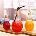 定制灯泡玻璃饮料瓶创意酸奶果汁奶茶杯饮品专用