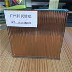 供应小条纹夹丝玻璃 条纹茶色玻璃
