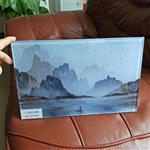 广州夹山水画玻璃 绢丝画玻璃 夹布玻璃