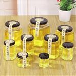 厂家直销 蜂蜜瓶透明玻璃密封玻璃瓶蜂蜜储存专用瓶酱菜瓶可定制
