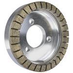 Bilateral machine diamond grinding wheel