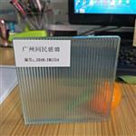 同民供应瓦楞玻璃 双面条纹夹胶钢化隔断玻璃