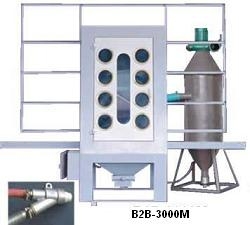Manual glass blast machine