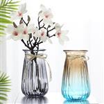 漸變色玻璃花瓶桌面裝飾瓶插花瓶
