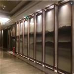 夹山水画玻璃 园林专用山水画玻璃  屏风山水画玻璃