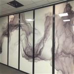 夹山水画玻璃 园林专用山水画钢化玻璃 同民生产