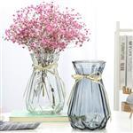 玻璃花瓶岭形玻璃瓶杯色玻璃瓶桌面装饰摆件瓶
