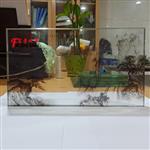 山水画玻璃哪家好广州富景玻璃有限公司艺术玻璃供应