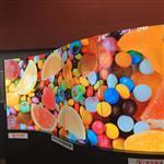 廠家供應55寸OLED柔性拼接屏 Oled曲面拼接屏