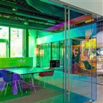 广州同民炫彩玻璃 钢化幻彩玻璃 艺术炫彩变色玻璃