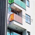 特色樓房彩色夾膠藝術玻璃